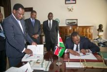 President Uhuru signing the Computer and Cyber Crime Act into Law